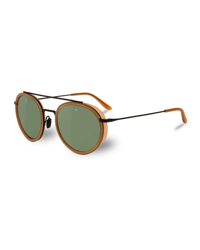 Edge Panthos Sunglasses, Red Amber/Matte Black