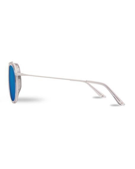 Edge Panthos Polarized Sunglasses, Red Amber/Matte Black