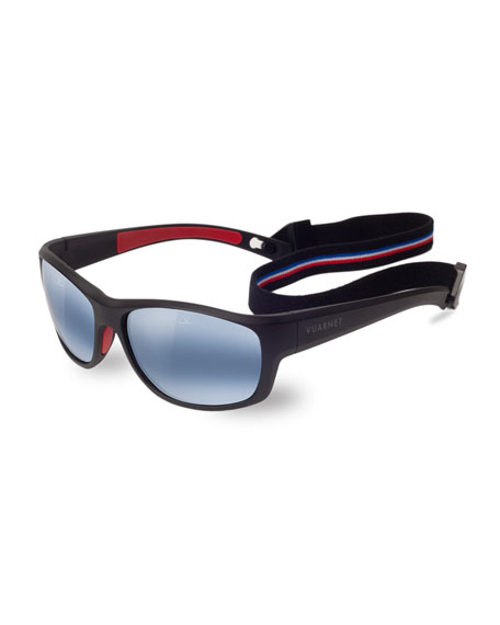 Vuarnet Cup Large Rectangular Active Polarized Sunglasses,