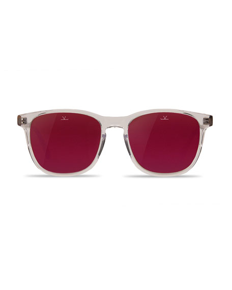 District Square Sunglasses, Crystal/Tortoiseshell/Purple