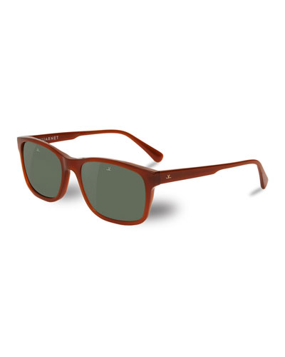 District Medium Rectangular Sunglasses, Brown