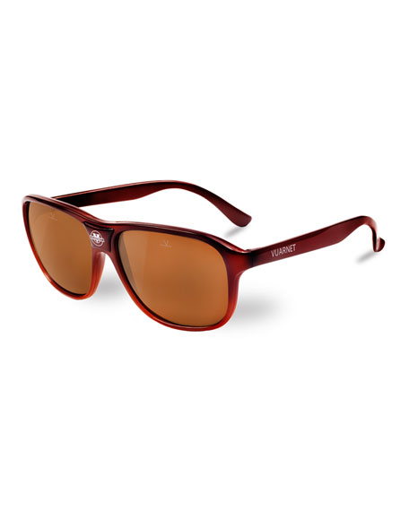 03 Acetate Pilot Polarized Sunglasses, Brown