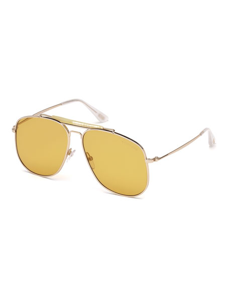 TOM FORD Connor Runway Aviator Sunglasses