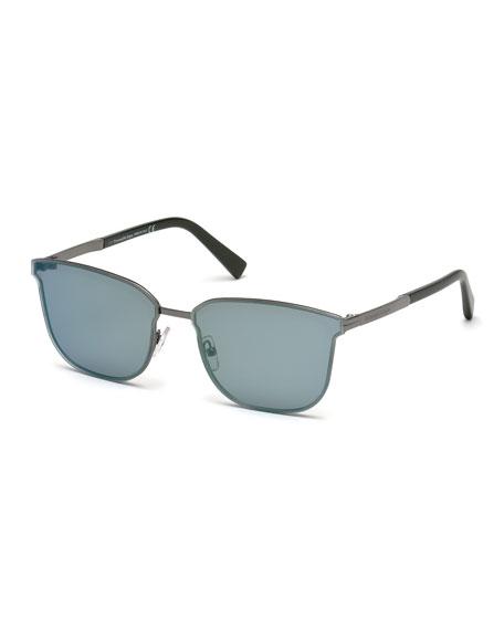 Rectangular Chevron Sunglasses