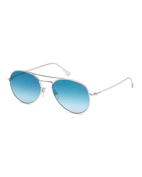 637f2003a1b30 TOM FORD Ace Metal Pilot Sunglasses