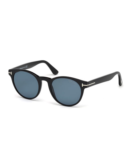 5b3fbe441e TOM FORD Palmer Polarized Round Acetate Sunglasses