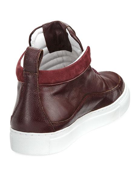 Braeburn Leather High-Top Sneaker, Oxblood