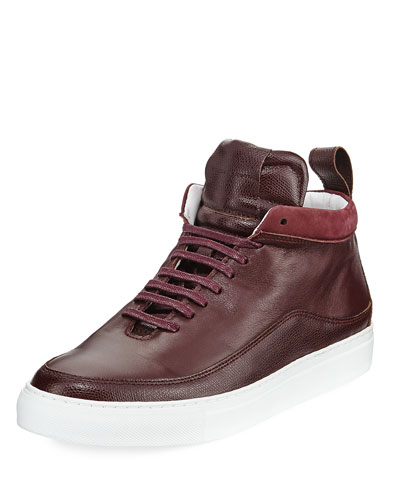 Braeburn Leather High-Top Sneaker, Oxblood
