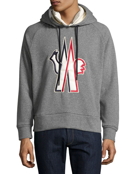Logo-Embroidered Pullover Hoodie
