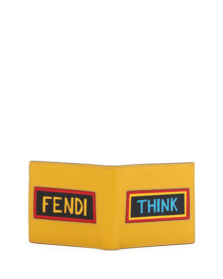 Think Vocabulary Leather Bi-Fold Wallet