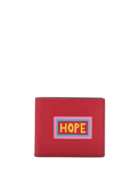Hope Vocabulary Leather Bi-Fold Wallet