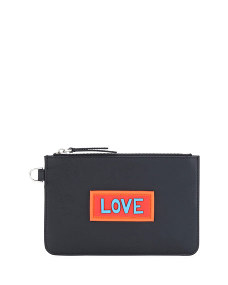 Love Vocabulary Leather Coin Pouch