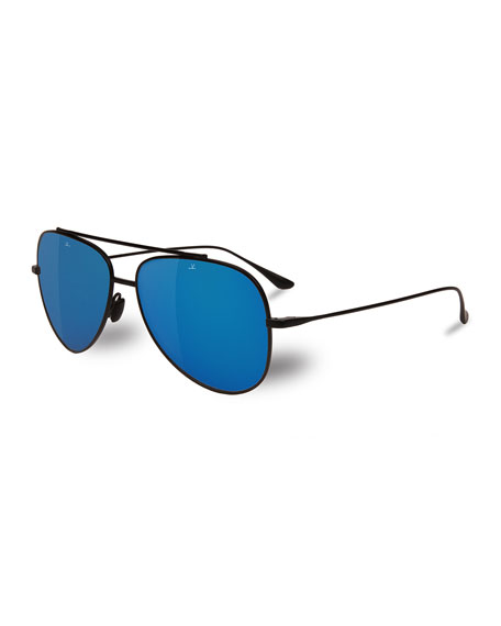 0d4a11b7a7d Vuarnet Swing Titanium Pilot Polarized Sunglasses