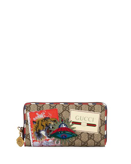 3a771cad4e64 Gucci Gucci Courier GG Supreme Zip Around Wallet