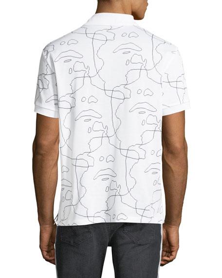 Siouxsie-Sioux Print Polo Shirt