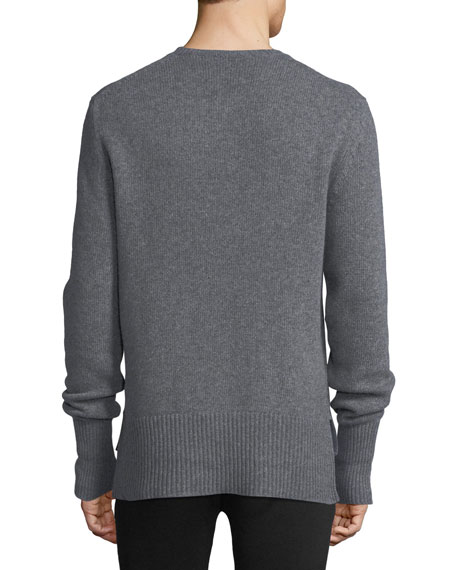Crewneck Sweater w/ Side Slits