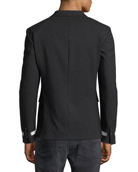 Contrast-Stripe Sport Coat