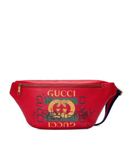 d5e4f843abb1 Gucci Gucci-Print Leather Belt Bag