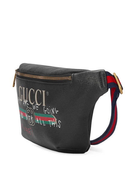 74099dfd853 Gucci Gucci-Print Leather Belt Bag