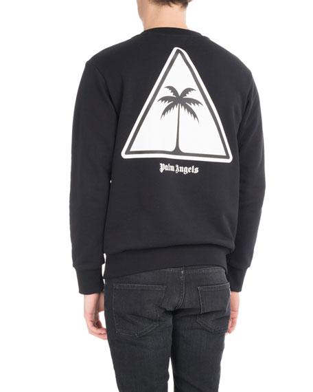 Palm Icon Cotton Sweatshirt, Black/White