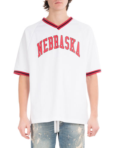 Nebraska Baseball V-Neck T-Shirt