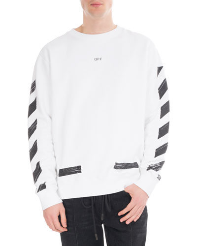 Brushed Diagonal Arrows Cotton Sweatshirt
