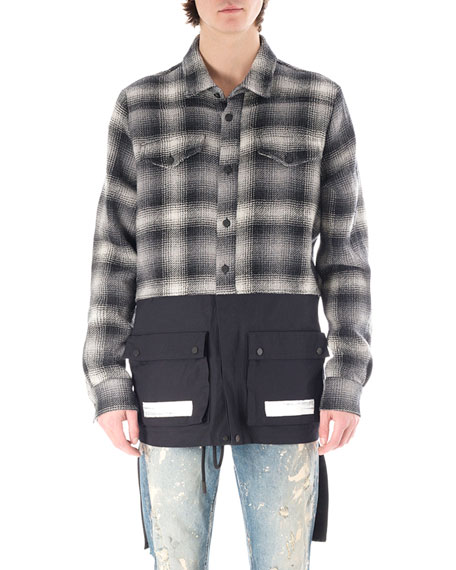 Flannel Split Shirt