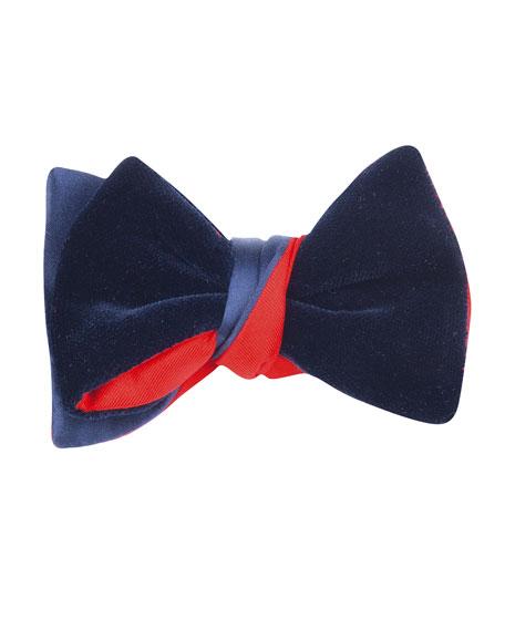 Satin & Velvet Bow Tie