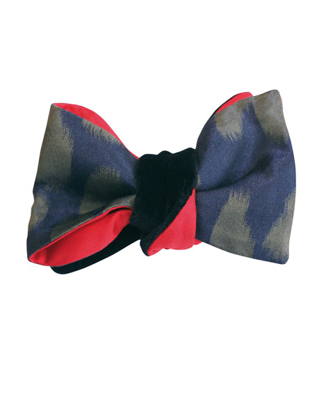 Cinabre Panthera Reversible Velvet Bow Tie