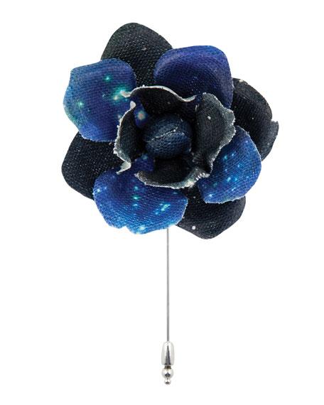 Cinabre Constellation Gardenia Flower Lapel Pin
