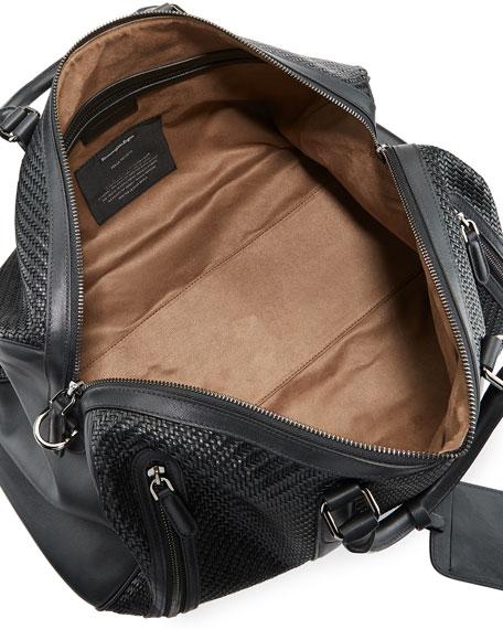 Pelle Tessuta Woven Leather Duffel Bag