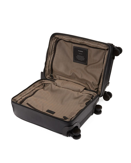 Pelle Tessuta Woven Leather Trolley Suitcause