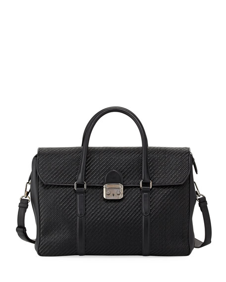 Pelle Tessuta Woven Leather Briefcase
