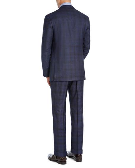 Plaid Super 140s Wool Two-Piece Suit