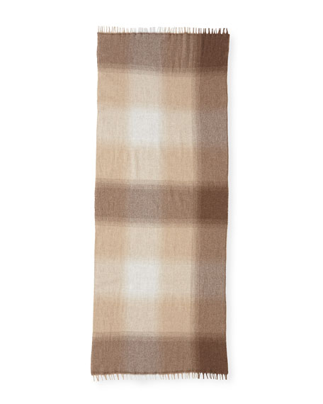 Wool/Cashmere Plaid Scarf
