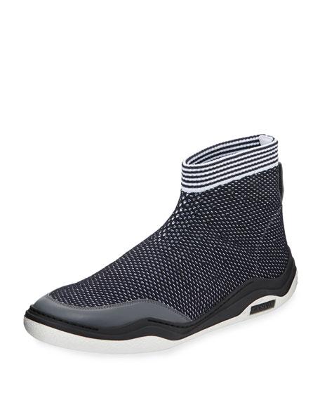 Men's Mesh Knit Trainer Sneakers