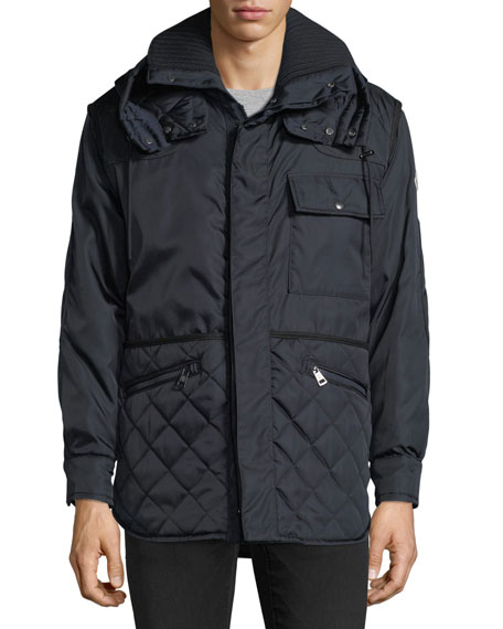Pierce Quilted-Trim Jacket