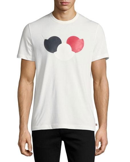 Tricolor Logo Cotton Crewneck T-Shirt