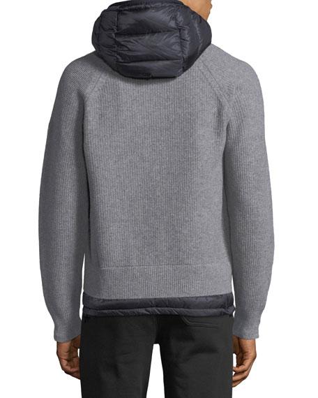 Knitted Wool Cardigan w/ Hood