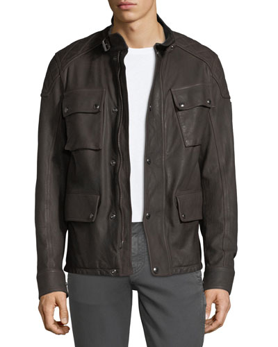 Woodbridge Leather Utility Jacket