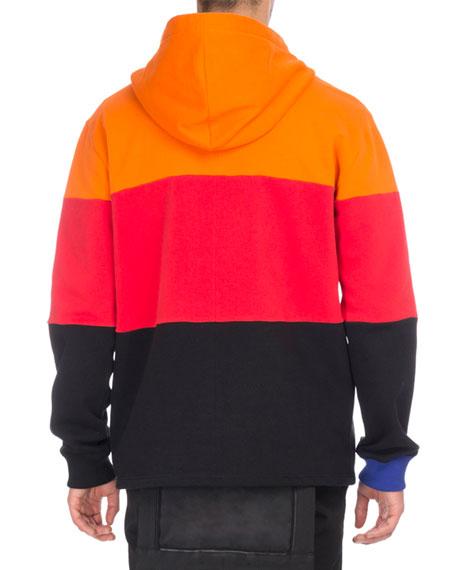 Colorblock Cotton Zip-Front Hoodie