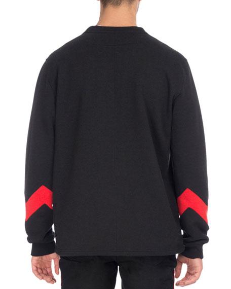 Zigzag-Band Crewneck Sweatshirt