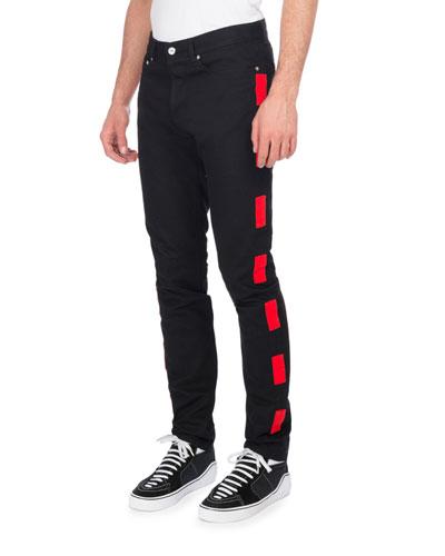 Dash-Stripe Skinny Jeans
