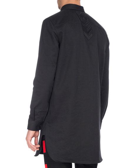 Tonal-Patch Long Utility Shirt