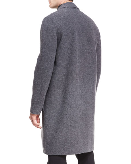 Notch-Lapel Single-Breasted Coat