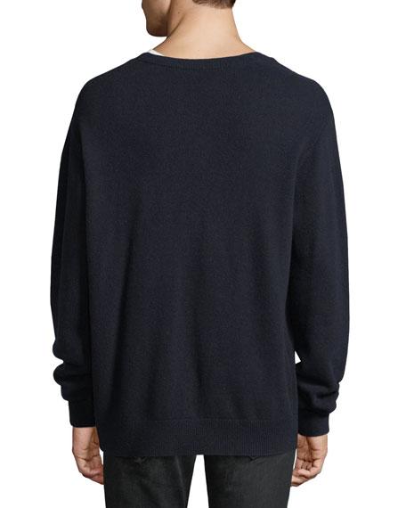 Wool-Cashmere V-Neck Cardigan