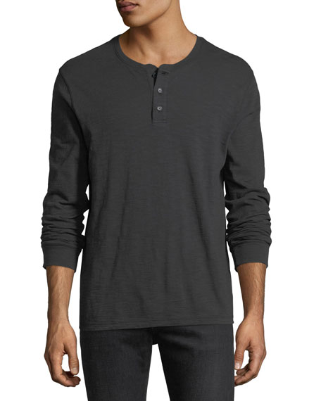 Slub Cotton Henley T-Shirt