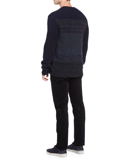 Marled Yak-Wool Crewneck Sweater