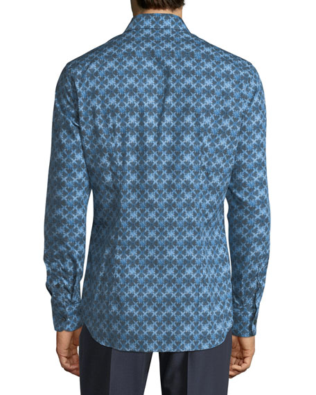 Kaleidoscope-Print Long-Sleeve Shirt