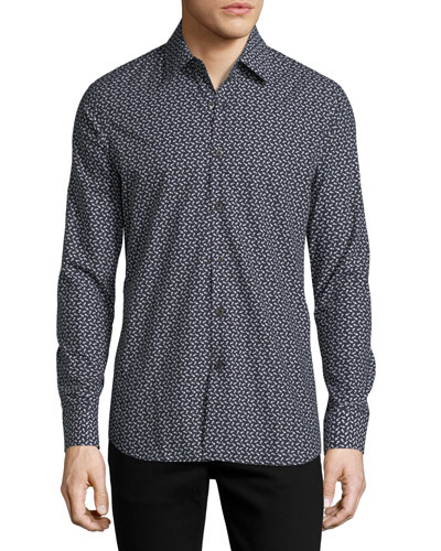 Arrow-Print Slim-Fit Shirt